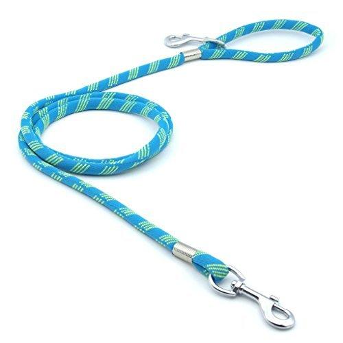 ThinkPet Nylon Hunde Fuehrleine Laenge 183cm Breite 1.3cm (Neo-Hellblau)
