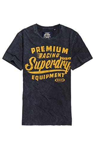Superdry Herren T-Shirt Premium Equipment Tee, Schwarz (Overdyed Black Ykf), XX-Large (Herstellergröße:XX-Large)