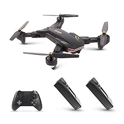 Goolsky VISUO XS809S RC Drone with 2.0MP Wide Angle Camera Quadcopter Wifi FPV Foldable One Key Return Altitude Hold G-sensor with One Extra Battery by Goolsky