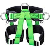 Climbing Harness Outdoor Rock Climbing Mountaineering Rappelling Safety Belt Harness Wall Mountain Tree Climbing Harness for Fire Rescuing Rock Climbing Rappelling