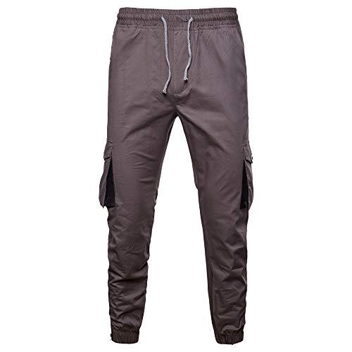 Somesun uomo tinta unita tasca tuta da lavoro casuale sport lavoro pantaloni casual slim fit skinny stretti alla caviglia elasticizzati larghi elegante sportivo invernali utility