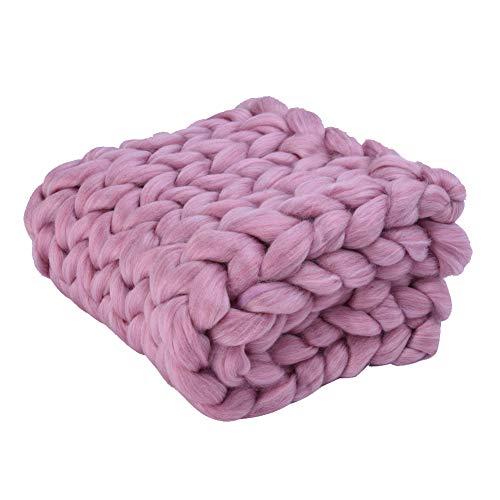 Manta de lana gruesa de punto para fotografía
