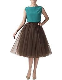 2e0320db5a5d clearbridal Damen 50s Vintage Tüll Petticoat Tutu Rock Bridal Petticoat  Unterrock für Ball Abend Hochzeit 12021