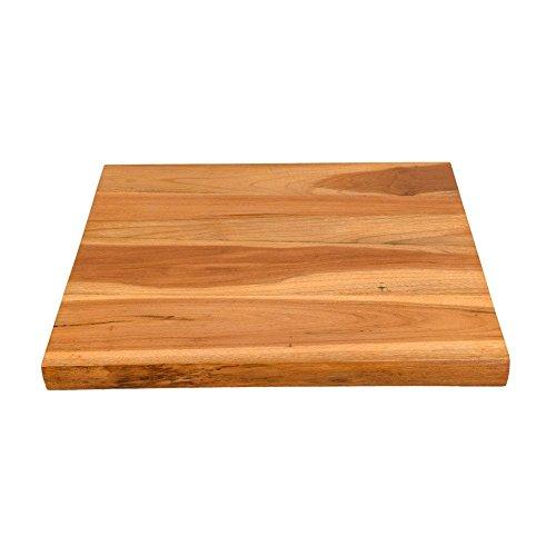 wohnfreuden Teak Holz Waschtischplatte Natur braun ✓ 50x40x4 cm ausgetrocknet und lasiert ✓ Holz-Platte für für Waschbecken