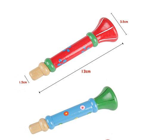 outflower 1pcs enfants sifflet trompette en bois instruments de musique jouets pour convient. Black Bedroom Furniture Sets. Home Design Ideas