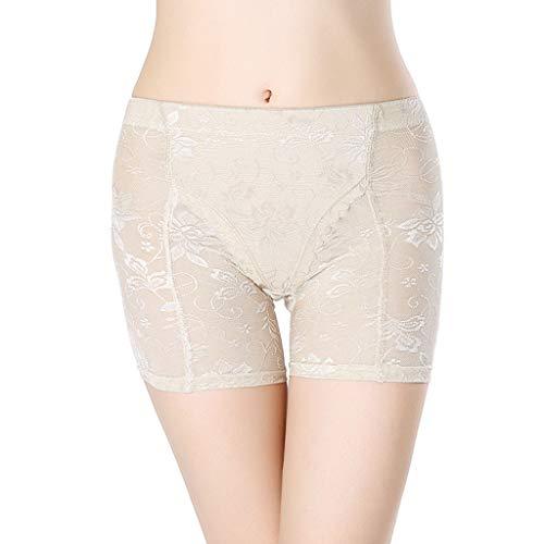 Calvinbi Damen Modern Panties mit Hohe Taille Padded Shaper Push-up Seamless Unterhose Butt Hip Enhancer Former Höschen Unterwäsche Taillenhose - Mikrofaser-former