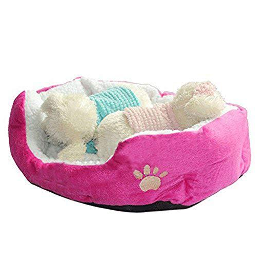 Westeng 1 Stück Ultra-weiche Baumwolle Welpen Nest Katzenbett, Kleine Haustierbett Teddy Kennel waschbar,50 x 40 x 15 cm - 3