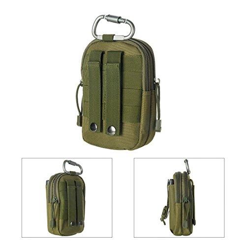 Multi sacchetto di sport, viaggi, escursioni, arrampicate, hip confezione contenente vari modelli per esterno (schwarz) grün