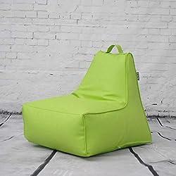 M-JH Puffs, Sillón con Respaldo Alto - 50 cm x 55 cm x 55 cm - Jardín Resistente al Agua o Gamer para Interiores BeanBag (Color : Verde)