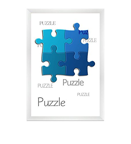 Bilderrahmen für Puzzle ca. 500-1000 Teile 50X70cm Weiß (Hochglanz)