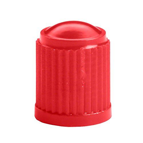Hofmann Power Weight 100x Auto Ventilkappen rot Rote Ventilkappe Autoreifen   Reifenventilkappen Ventildeckeldichtung