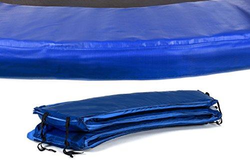 HS HOP-SPORT Trampolinzubehör Ersatzteile für Trampoline: 244, 305, 366, 430, 490 cm Netz Randabdeckung Wetterschutzplane Sprungtuch Feder hochwertige Qualität (Randabdeckung 244 cm blau)