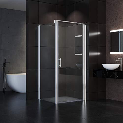 Neueröffnung Duschkabine 90x90X185cm Eckeinstieg Rahmenlos Duschabtrennung
