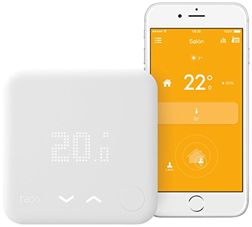 Tado Smart Thermostat ° Starter Kit (V3) – Smart Geolocation Heating and Via Geolocation and Smartphone.