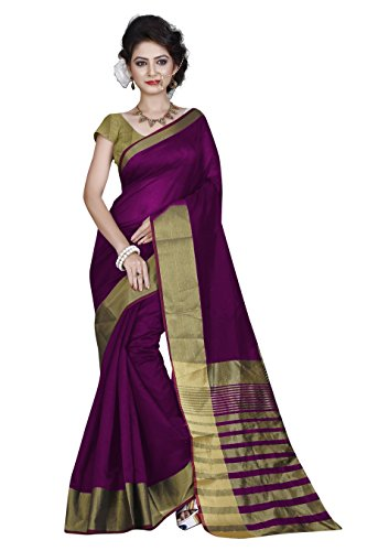 Sarees (Women\'s Clothing Saree For Women Latest Design Wear Sarees Collection in Wine Colored Cotton Material Latest Saree With Designer Blouse Free Size Beautiful Bollywood Saree For Women Party Wea