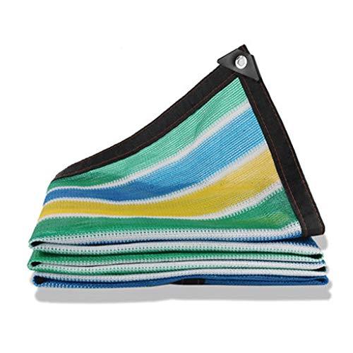 Schatten Tuch Sonnenschutznetz-Sonnencremeverschlüsselung Verdickung Balkongarten im Freien Isolationsnetzschattierungsschattierungsnetz (Color : Multi-Colored, Size : 3m*10m)