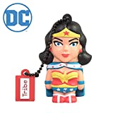 Tribe Warner Bros DC Comics Wonder Woman - Memoria USB 2.0 de 8 GB Pendrive Flash Drive de Goma con Llavero