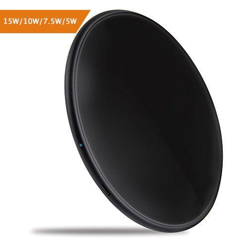 Wireless Charger 15W/10W Qi Ladegerät 10w Induktionsladegerät 7.5W/5W für iPhone X / iPhone 8 Plus/ iPhone 8, 15W/10W Wireless Ladegerät für Samsung Galaxy Note 5 /S6 Edge Plus /S7 Edge /S7 /S8 plus /S8 /Note 8/ S9 / S9 plus und alle Qi Fähige Geräte.