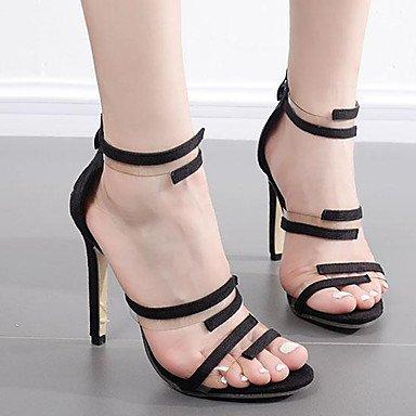 LvYuan Da donna Sandali Felpato Estate Più materiali A stiletto Nero 10 - 12 cm Black