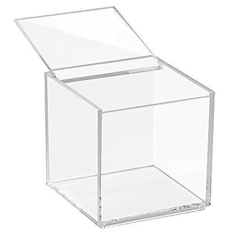 Cube Transparent - InterDesign 39600EU Clarity Vanity Boîte de Rangement