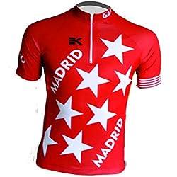 MAILLOT EKEKO MADRID VINTAGE, maillot corte clasico/retro con la bandera de la comunidad de madrid. (XS)