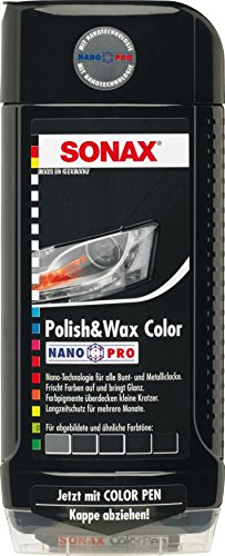 500ml SONAX POLISH & WAX COLOR NANOPRO SCHWARZ AUTO - POLITUR LACK 296100