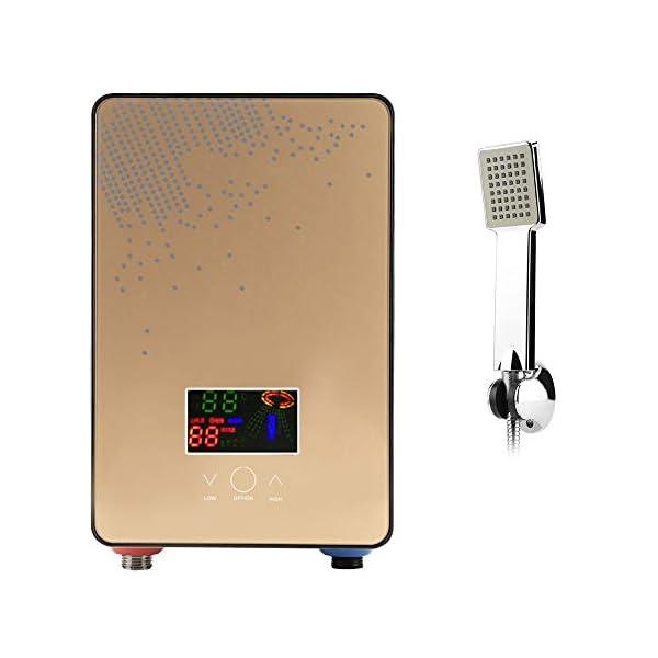 6500W Calentadores de agua instantáneos eléctricos, calentador de agua sin tanque termostático, Pantalla LCD con Control…