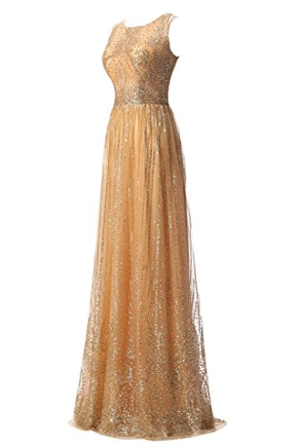 Sunvary 2016 Vogue Shining a-line per abito da sposa applicate formale Sera Sera champán