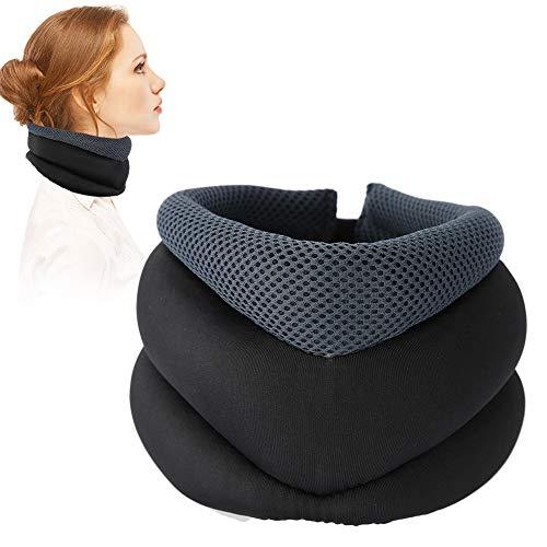 TMISHION Hals Traktion, Hals Traktionsgerät Sie die Ausrichtung der Wirbelsäule Hals für Nackenkissen, um Rücken Schulter Muskelschmerzen zu lindern (02# Tipo de calentamiento por terapia magnética) -