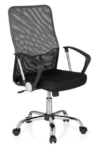 sedia-girevole-foley-net-tessuto-netto-nero-grigio-scuro-cromo