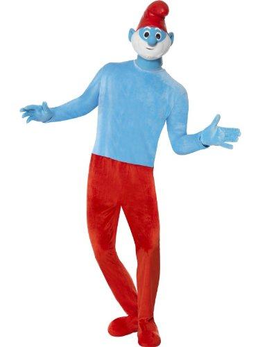 Hochwertiges Deluxe Papaschlumpfkostüm Papaschlumpf Kostüm Papa Schlumpf die -