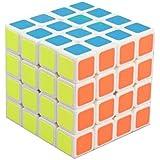 Creation® Moyu Aosu Nueva Estructura 4x4x4 Cubo velocidad, blanco