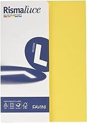 Idea Regalo - Favini A69X504 Rismalucea4 Cartoncino Colorato, 200 g/Mq, Assortiti 5 Colori