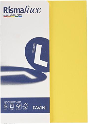 Favini a69x504 rismalucea4 cartoncino colorato, 200 g/mq, assortiti 5 colori
