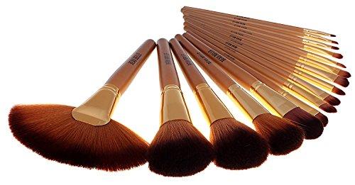Beau Belle Doré Lot de brosse de maquillage, 21