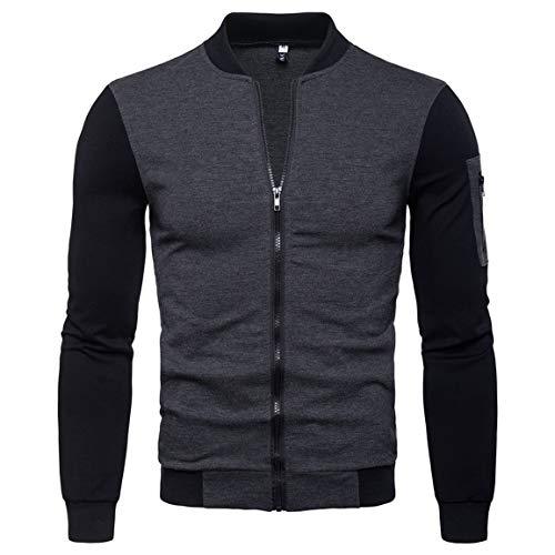 Adidas Herren Casual Stand (Herren Kurze Strickjacke Mann Junge Reißverschluss Jacke Herbst Nationalen Winter Dashiki Casual Langarm Solide Stand Top Bluse Moonuy)