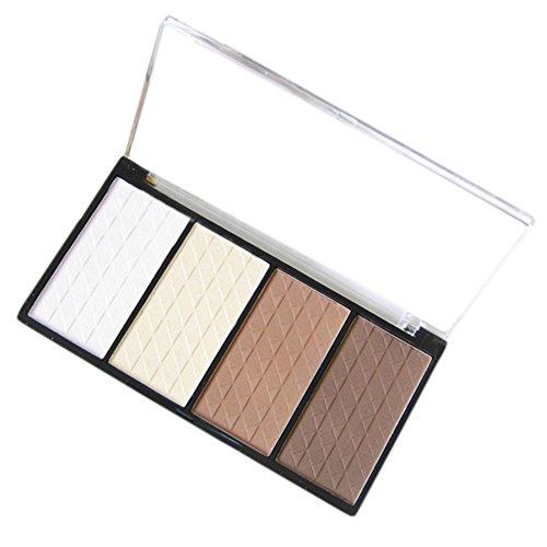 4 couleurs Make Up Cosmetic Visage Contour Matte Shading Poudre pressée Hightlight