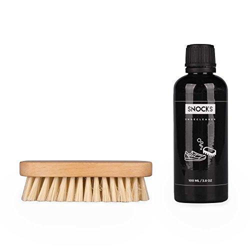 SNOCKS - Sneaker Cleaner Set - Premium Schuhpflegeset - 100 ml Schuhcreme & Sanfte Bürste - Schuhpflegebürste - Cleaning Kit