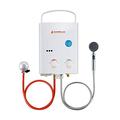 Camplux AY132 Tankless Gasdurchlauferhitzer, 5L Gas Propan Durchlauferhitzer Tankless Instant Warmwasserbereiter 10kW