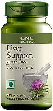 GNC Herbal Plus Liver Support - 60 Vegetarian Capsules