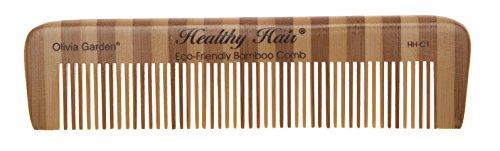 Olivia Garden Healthy Hair Bambus Taschenkamm HH-C1, 15 cm mit feiner Zahnung