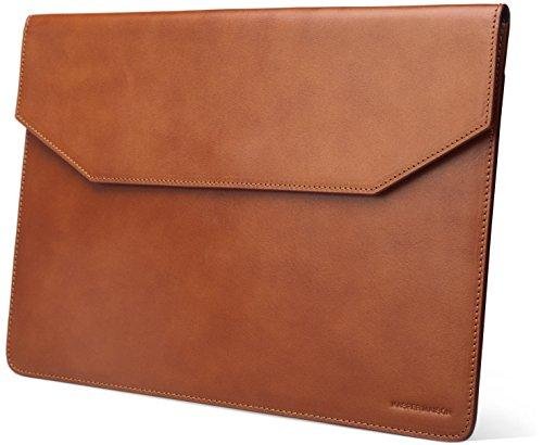 nische Leder-Hülle für Macbook 15 Zoll / Pro Retina/ New Pro & Pro mit Touch Bar- Premium Umschlag Fall für Apple Mac 15 Zoll Laptops- Hellbraun ()