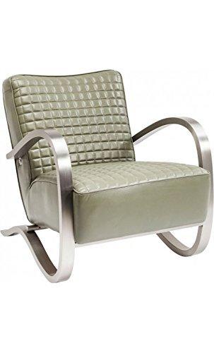 Kare design - Fauteuil design cuir et acier brossé COBRA