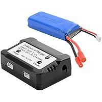 SODIAL(R) 1pc 7.4V 2000mAh 25C Lipo bateria + Cargador de bateria Para Syma X8C X8W X8G Quadcopter