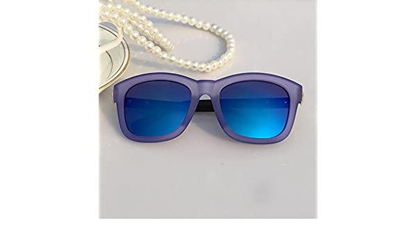 LXKMTYJ Intorno a una piazza volto alla moda Occhiali singoli Ms. occhi Occhiali da sole Street Foto di occhiali sportivi Pesca, Viola resiliente