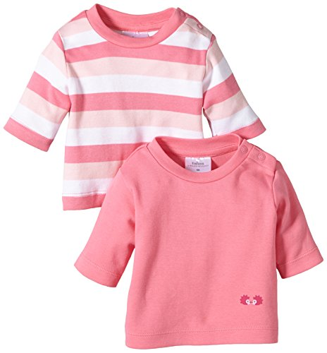Twins Baby Girls Long Sleeve Sweatshirt, 2-Pack, Pink (Morning Glory), 18-24 Months (Manufacturer size: 92)