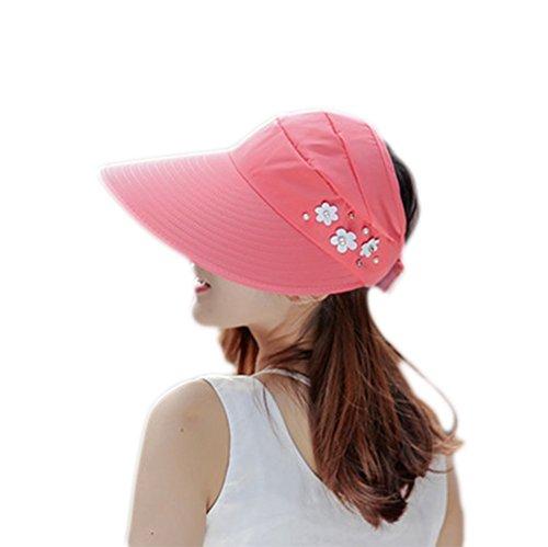 Demarkt Damen Hut Sonnenhut Sommerhut für Draußen Baumwolle einstellbar Wassermelone Rot