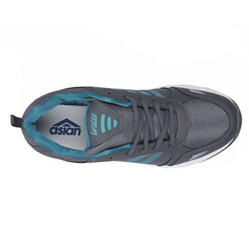 Asian shoes Wonder-13 Grey Firozi Mesh Kids Shoes