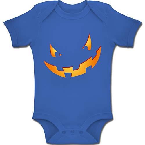Shirtracer Anlässe Baby - Kürbisgesicht klein Pumpkin - 12-18 Monate - Royalblau - BZ10 - Baby Body Kurzarm Jungen Mädchen