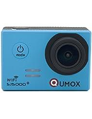 QUMOX Original SJ5000 WIFI Plus - Cámara de Deporte para casco Impermeable, Video de Alta definición 1080p Full-HD de 2.0 pulgadas 2'' 170 ° Lente Submarino HD impermeabilizan la videocámara DVR, Color Azul